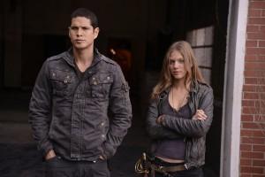 "JD Pardo and Tracy Spiridakos in REVOLUTION - Season 1 - 'The Love Boat"" | ©2013 NBC/Brownie Harris"