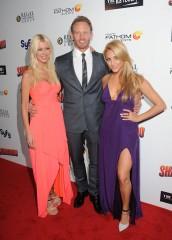 Ian Ziering, Tara Reid and Cassie Scerbo attends The Los Angeles Premiere of Sharknado | ©2013 Albert L. Ortega