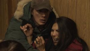 Johnny Wactor as Johnny, Joyce Giraud as Joyce in SIBERIA - Season 1 | ©2013 NBC/Keith Eidse
