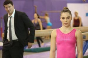 "David Boreanaz and McKayla Maroney in BONES - Season 9 - ""The Spark in the Park""   ©2013 Fox/Patrick McElhenney"