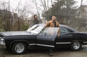 "Jared Padalecki as Sam and Jensen Ackles as Dean in SUPERNATURAL - Season 9 - ""King of the Damned"" | ©2014 The CW/Katie Yu"
