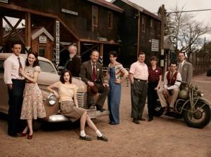 The cast of MANHATTAN on WGN | © 2014 WGN