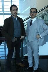 Demian Bichir as Marco Ruiz, Bruno Bichir as Sebastian Cerisola on THE BRIDGE | © 2014 Byron Cohen/FX Network