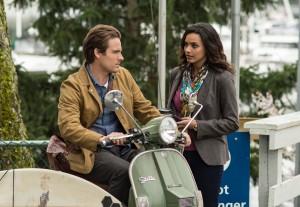 Kevin Zegers and Jessica Lucas in GRACEPOINT - Season 1 | ©2014 Fox/Ed Araquel