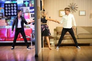 Sarah Farber, Nastia Liukin and Derek Hough in DANCING WITH THE STARS - Season 10 - Week 8 | © 2015 ABC/Adam Taylor