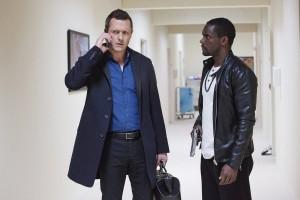 Jason O'Mara as Dr. John Ellison and Chris Chalke as Darius Bishop in COMPLICATIONS | © 2015 Bob Mahoney/USA Network