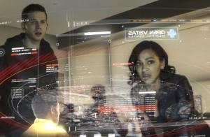 Stark Sands as Dasha nd Meagan Good as Lara Vega in MINORITY REPORT | © 2015 Fox/Bruce MacCauley