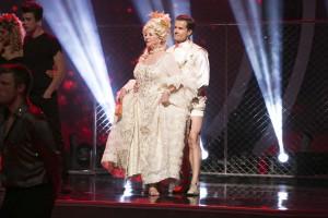 Paula Deen and Louis Van Amstel in DANCING WITH THE STARS - Season 21 - Week 6 | © 2015 ABC/Adam Taylor