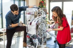 Rachel Boston and David Alpay star in ICE SCULPTURE CHRISTMAS | © 2015 Marcel Williams/Hallmark