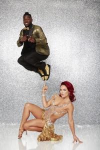 Antonio Brown and Sharna Burgess in DANCING WITH THE STARS - Season 22 |©2016 ABC/Craig Sjodin