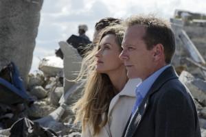 "Natascha Mcelhone and Kiefer Sutherland in DESIGNATED SURVIVOR - Season 1 - ""The First Day"" | ©2016 ABC/Ben Mark Holzberg"