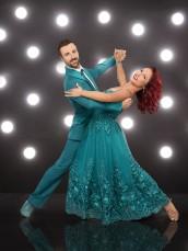 James Hinchcliffe and Sharna Burgess inin DANCING WITH THE STARS - Season 23 | ©2016 ABC/Craig Sjodin