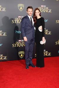 Chris Hardwick and Lydia Hearst at the World Premiere of Marvel Studios DOCTOR STRANGE