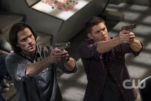 "Jensen Ackles and Jared Padalecki in SUPERNATURAL ""Alpha and Omega""   © 2017 Katie Yu/The CW"