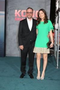 Henry Jackman and Victoria De La Vega at the Los Angeles Premiere of KONG: SKULL ISLAND