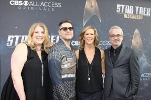 L-R: Gretchen J. Berg, Aaron Harberts, Heather Kadin and Alex Kurtzman at the official premiere of CBS' STAR TREK DISCOVERY