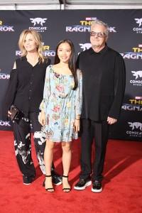 Mark Mothersbaugh, Anita Greenspan and daughter at the World Premiere of Marvel Studios' THOR: RAGNAROK
