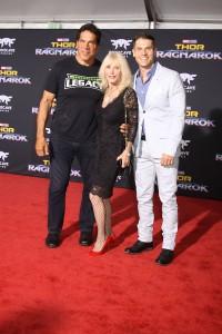 Lou Ferrigno, Carla Ferrigno and Lou Ferrigno Jr. at the World Premiere of Marvel Studios' THOR: RAGNAROK