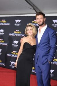 Chris Hemsworth and Elsa Pataky at the World Premiere of Marvel Studios' THOR: RAGNAROK