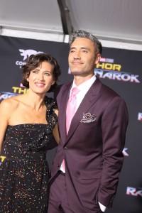 Taika Waititi and Chelsea Winstanley at the World Premiere of Marvel Studios' THOR: RAGNAROK