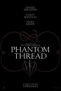 PHANTOM THREAD movie poster | ©2017 Focus Features