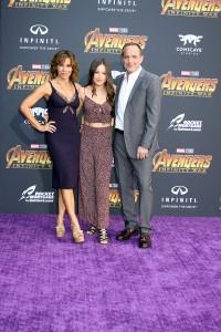 Clark Gregg, Jennifer Grey and daughter Stella Gregg at the World Premiere of Marvel Studios AVENGERS: INFINITY WAR