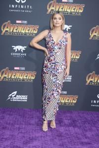 Olivia Holt at the World Premiere of Marvel Studios AVENGERS: INFINITY WAR