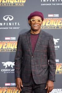 Samuel L. Jackson at the World Premiere of Marvel Studios AVENGERS: INFINITY WAR