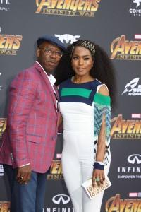 Angela Bassett and Courtney B. Vance at the World Premiere of Marvel Studios AVENGERS: INFINITY WAR