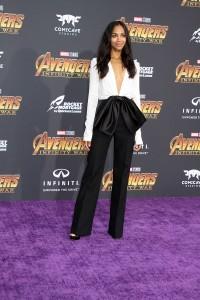 Zoe Saldana at the World Premiere of Marvel Studios AVENGERS: INFINITY WAR