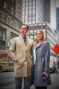 "Alan Cumming as Dr. Dylan Reinhart and Bojana Novakovic as Det. Lizzie Needham in INSTINCT - Season 1 - ""Pilot""   ©2017 CBS Broadcasting, Inc./Jonathan Wenk"