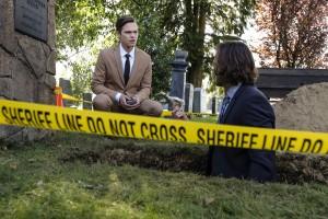 "Alexander Calvert as Jack and Jared Padalecki as Sam in SUPERNATURAL - Season 13 - ""Tombstone"" | © 2017 The CW/Bettina Strauss"