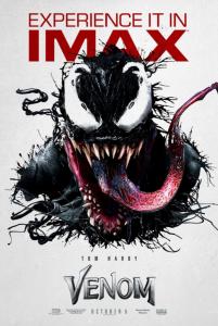 VENOM IMAX movie poster | ©2018 Sony/Marvel