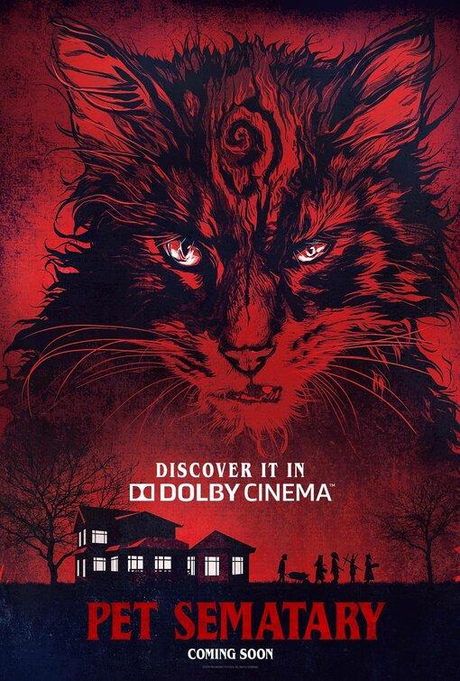 PET SEMATARY SCARY GRAVEYARD CAT HORROR MOVIES STEPHEN KING ART PRINT POSTER