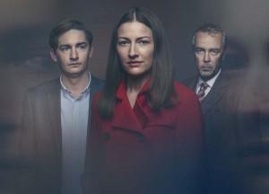 James Harkness, Kelly MacDonald, and John Hannah in THE VICTIM | ©2019 Britbox