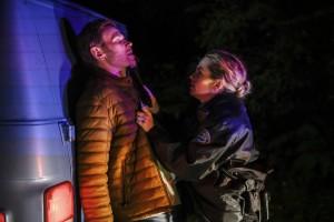 "Mark Pellegrino as Nick and Briana Buckmaster as Donna in SUPERNATURAL - Season 14 - ""Damaged Goods""| © 2018 The CW Network, LLC/Diyah Pera"