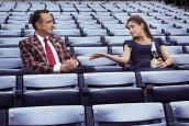 Hank Azaria as Jim Brockmire and Amanda Peet is Jules in BROCKMIRE - Season 3 | ©2020 IFC/Kim Simms