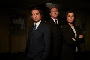 Martin Compston, Adrian Dunbar, Vicky McClure in LINE OF DUTY | ©2020 Acorn TV