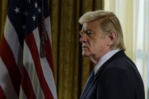 Brendan Gleeson as President Donald Trump in THE COMEY RULE | ©2020 CBS Television Studios/SHOWTIME/Ben Mark Holzberg