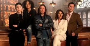 Beth Reisgraf, Aleyse Shannon. Christian Kane, Gina Bellman, Noah Wyle in LEVERAGE - REDEMPTION| ©2021 Electric Entertainment